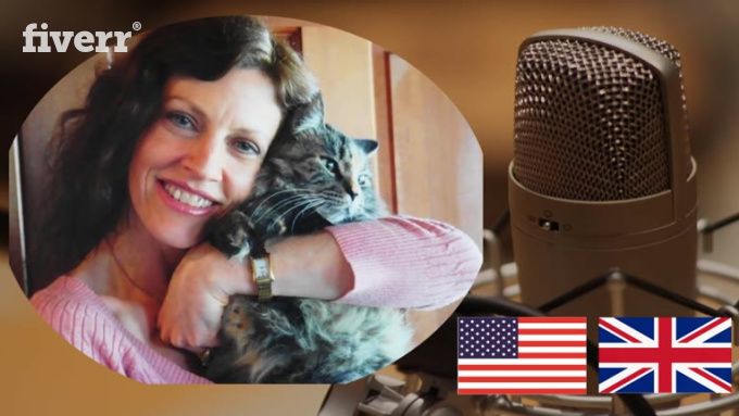lisabaarns : I will record your American or British voice over for $5 on www.fiverr.com